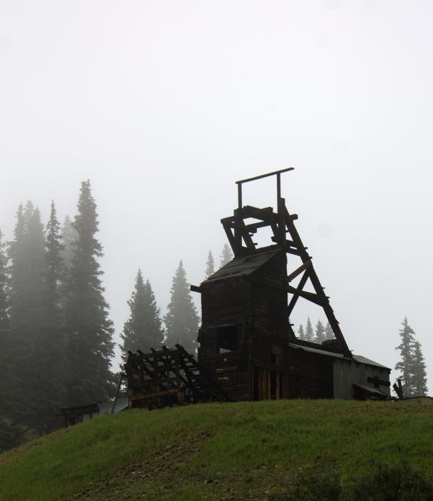 Longfellow Mine shaft house.