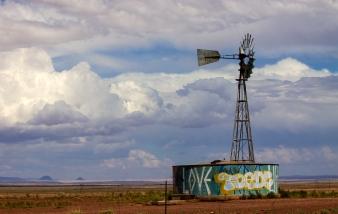 Windmill, Leupp, Arizona.