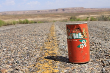Old can in the old road, on or adjacent to the Comb Ridge parcel.
